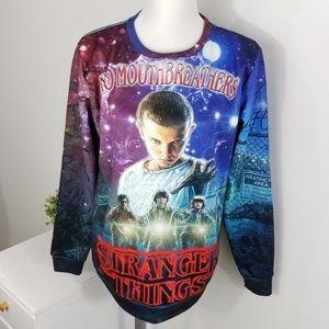 Stranger Things Fleece Lined Graphic Sweatshirt